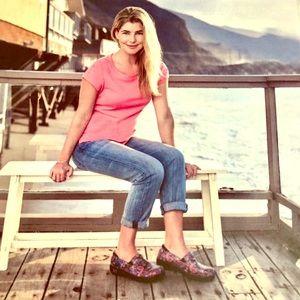 ALEGRIA printed slip on shoes.